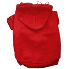 Red Dog Hoodie Hoody - All Sizes Short Sleeve Sweatshirt Ribbed Cuff & Collar