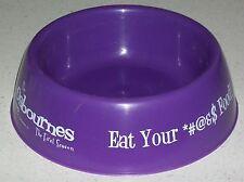 Dog food Pet bowl dish Ozzy Osbournes Sharon Kelly Ozzie Reality TV show Xmas