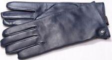 Roeckl New Classic navy Leder Handschuhe gefüttert Lederhandschuhe Damen blau