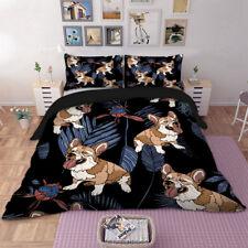 Corgis Pet Dogs Duvet Cover Twin/Full/Queen/King Pillowcases Bedding Set Cute