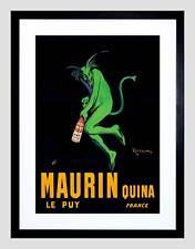 ADVERT DRINK ALCOHOL MAURIN QUINA GREEN DEVIL FRANCE FRAMED ART PRINT B12X6735