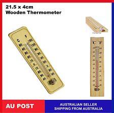 2 x Wooden Thermometer Indoor Outdoor Glass Wall Hanging Room Sensor 21.5cm
