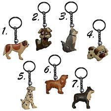 Schlüsselanhänger Hunde aus Holz, Schlüsselring Hund, 1x Holzschlüsselanhänger