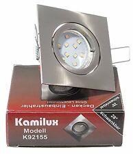 LED Decken Einbaustrahler SETS 230V GU10 K92155 für Innen & Aussen IP20 5W = 50W