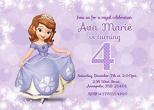 Sofia the First, Princess, Birthday Party Invitation
