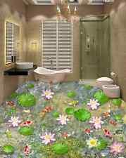 3D flower water fish 52 Floor WallPaper Murals Wall Print Decal 5D AJ WALLPAPER6