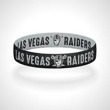 Reversible Las Vegas Raiders Bracelet Wristband Commitment to Excellence