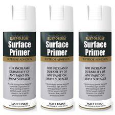 1x/2x/3x Multi-Purpose Surface Primer Spray Paint Stain Block White Matt 400ml