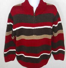 Gymboree Boy's Empire State Express Striped 1/2 Zip Sweater Size XS(3-4)