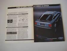 advertising Pubblicità 1985 FORD SCORPIO 2000 GHIA