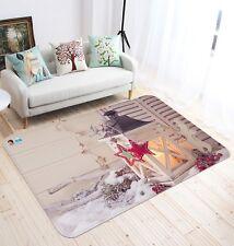 3D Christmas Xmas Deer Light 10 Non Slip Rug Mat Room Mat Quality Elegant Carpet