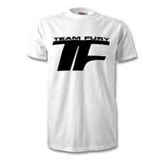 Tyson fury t shirt Champion de Boxe équipe Fury Poids Lourd Noir Boîte Blanche Top Tee
