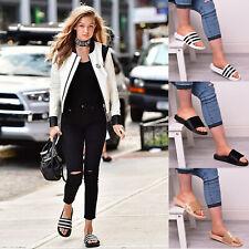 Ladies Women Summer Sliders Mule Velvet Fur Slippers Rhianna Holiday Sandal Size