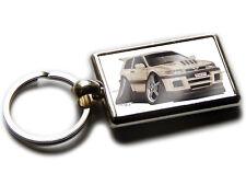 NISSAN PULSAR GTI R Sports Car Koolart Chrome Keyring Picture Both Sides