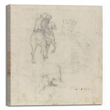 Michelangelo studi cavallo design quadro stampa tela dipinto telaio arredo casa