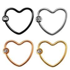 Corazón Piercing Tragus Helix Bcr Heart Labios Piedra Anillo Oreja Íntimo