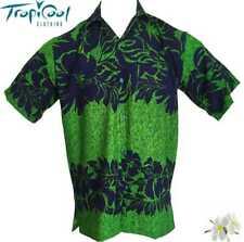 The Classic Mens Hawaiian Shirts Green/Navy Bucks Party