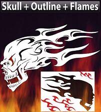 Flame Skull 5 Airbrush Stencil Spray Vision Template