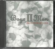 BOYZ II MEN Color of love EDIT & INSTRUMENTAL PROMO CD single BABYFACE TRK boys