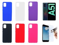 Funda Carcasa Silicona Gel TPU Lisa Para Samsung Galaxy A51  Protector Opcional