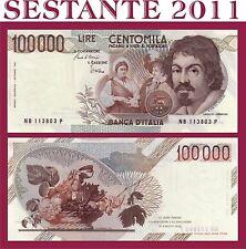ITALIA  100.000 LIRE CARAVAGGIO 1985  1° TIPO LETTERA B P 110a  FDS / UNC 100000