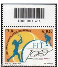 2010 60 CENT. 100° ANNI TENNIS - CODICE A BARRE 1361