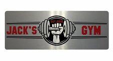 Personalised Gym Name & Est Year Aluminium Metal Sign Plaque Door Fitness 20x7.5
