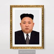 KIM JONG UN NORTH KOREA PORTRAIT Art Print Poster Korean Leader Pyongyang