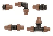 Rain Bird lock Type observar los conectores para 13/16mm PE tubo o dripline