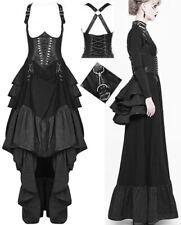 Robe jupe corset gothique steampunk victorien tournure volants sangles Punkrave