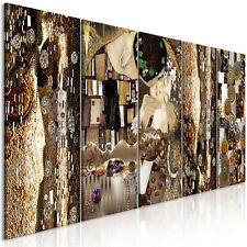 Wandbilder xxl Gustav Klimt der Kuss Leinwand Bilder Wohnzimmer l-A-0035-b-m