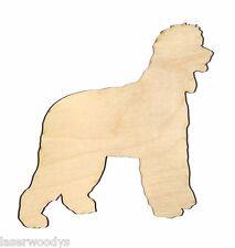 Irish Water Spaniel Dog Unfinish Flat Wood Shapes Cut Outs Iws5630 Variety Szs