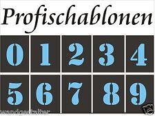 Zahlenschablonen, Ziffernschablonen, Nummernschablonen,  Zahlen, Ziffern, 2-20cm