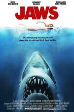 """JAWS"" ..Roy Scheider Richard Dreyfuss .. Classic Movie Poster 2.. Various Sizes"