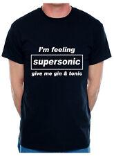 Supersonic Dame Gin & Tónico gracioso para hombres Camiseta Regalo De Cumpleaños