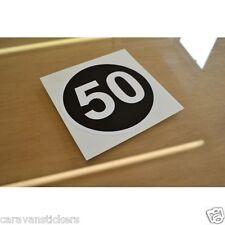 Retro 50mph Car Caravan Motorhome Sticker Decal Graphic - SINGLE