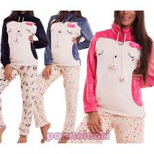 Pijama de mujer kawaii suéter de punto pantalones piel sintética idea C012