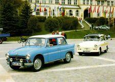 Ansichtskarte: AWZ P70 Zwickau Limousine und Trabant P60 Camping, DDR-Oldtimer