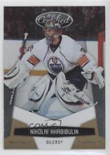 2010 Certified Platinum Gold #61 Nikolai Khabibulin Edmonton Oilers Hockey Card