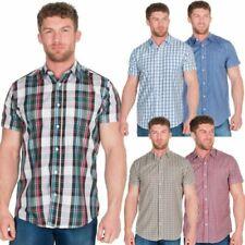 Diseño Hombre Camisa De Cuadros Top Manga Corta Elegante Trabajo Informal Verano