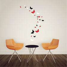 26 x Mixed Size Butterfly Vinyl Wall Art Stickers, Butterflies Wall Decals