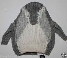 b5a1ed6bd72 baby Gap NWT Boy s Girl s Gray Penguin 3-D Sweater Knit Hat