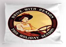 Vintage Woman Pillow Sham Decorative Pillowcase 3 Sizes for Bedroom Decor