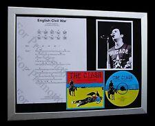 THE CLASH English Civil War LTD CD TOP QUALITY FRAMED DISPLAY+FAST GLOBAL SHIP!