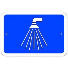 Plastic Sign Showers