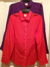 New J. Crew Womens Sheer Blouse Top LS Button-up w/Collar Cotton Blend