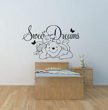 SWEET Dreams WINNIE THE POOH Bambini Camera Da Letto Bambini Muro ARTE Adesivo