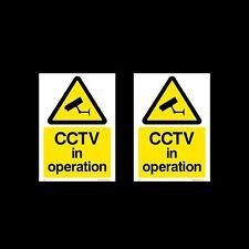CCTV Firmare, Adesivo Pacco da 2 - 100mm x 150mm (A6) - sicurezza, fotocamera - (MISC11)