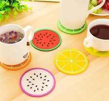 1,55€/Stk    2 Untersetzer Früchte Silikon Melone Orange Pitaya Tasse Glas