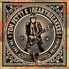 Tom Petty Damn la Antología en Vivo 2009 Impresión Arte Cartel De Lona tapa del álbum de música